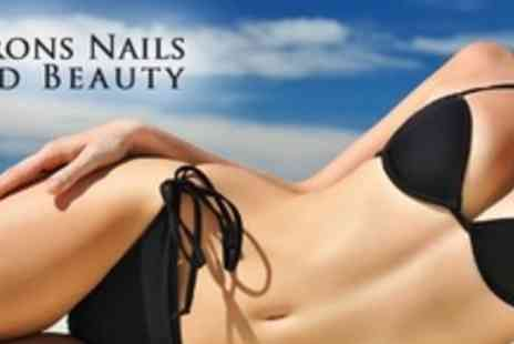 Barons Nails and Beauty Salon - Full Set of Gel Nail Extensions and Spray Tan - Save 71%