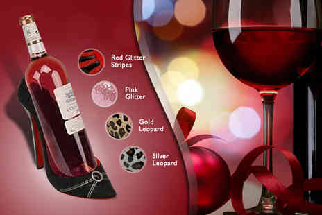 Riverside Garden Centre - Shoe wine bottle holder in a choice of styles - Save 40%