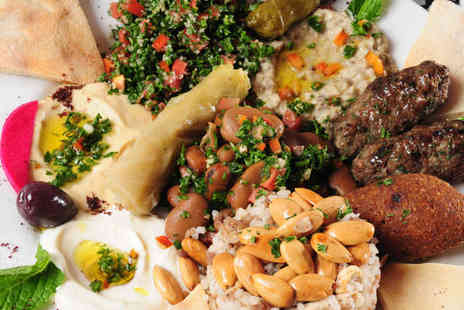 Levant Lebanese Restaurant - Starter Main and Glass of Wine Each for Two  - Save 50%