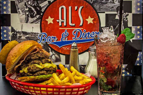 Als Diner - Burger Hot Dog or  Po Boy Sub Each plus a Side and Mojito Each for Two  - Save 61%