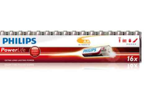 Mobileheads - 16 pack Philips AA Battery bundle - Save 64%