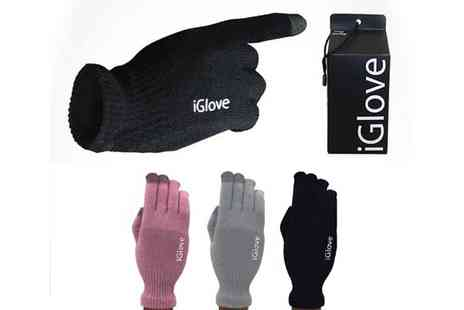 Shopper Gold - Black iTouch Gloves for use with Touchscreen - Save 53%
