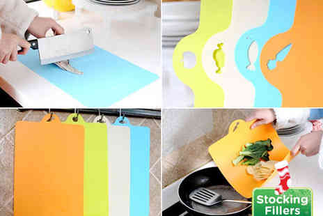 E ville - Slim Colour Coded Cutting Board Set - Save 53%