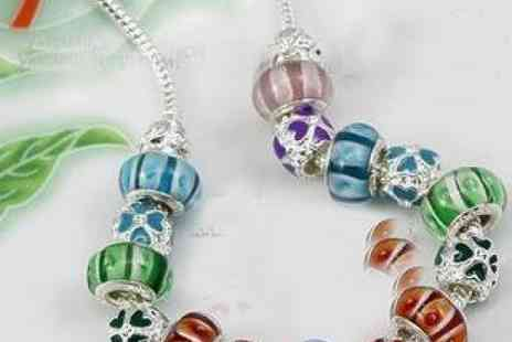 DealWizz - Sterling Silver Necklace With Colourful Moreno Stones An Amazing Addition To Any Performance - Save 50%