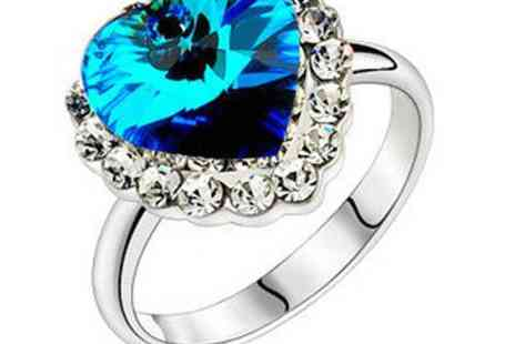 DealWizz - Amazing Titanic Heart Ocean Ring 18K White Gold plated!The perfect gift for any woman Awesome price - Save 50%