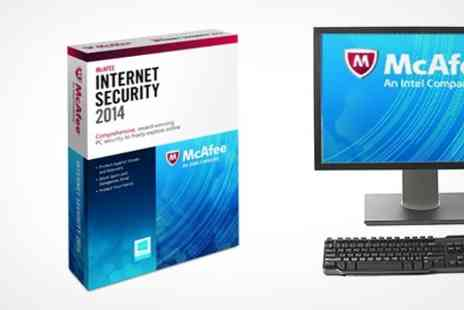 Ecosafe and Secure - McAfee Internet Security 2014 One Year Licence For Three Users - Save 79%