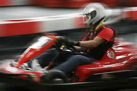 Indoor Super Karting - 30 Laps of Go Karting For One - Save 59%