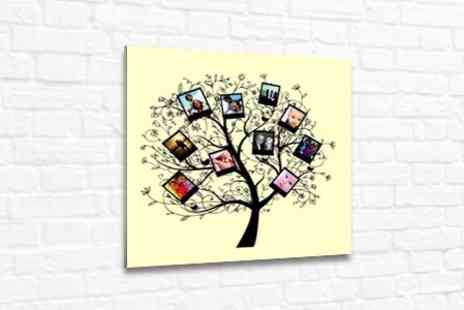 PhotoART Warehouse - Personalised Family Tree Photo Canvas in Choice of Sizes - Save 75%