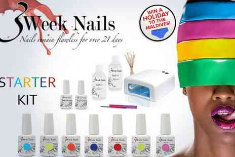 3 Week Nails - Gel polish starter kit with four gel colours  - Save 51%