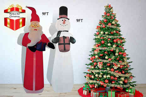 myinternetwarehouse - Nine fit inflatable lightup Santa Claus or snowman - Save 55%
