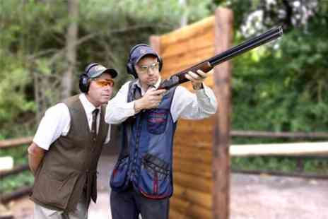 Ian & Gareth Butler Shooting School  - Clay Pigeon Shooting Lesson For One - Save 47%