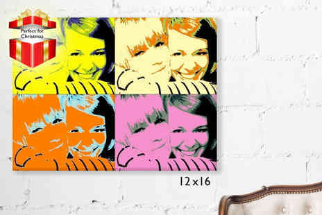 Forever Canvas - 12 x 16 personalised pop art canvas - Save 78%