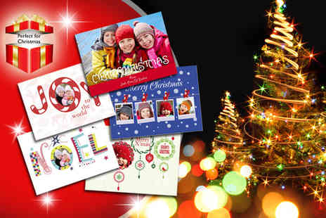 Advanced Images - 12 personalised A5 Christmas cards - Save 54%