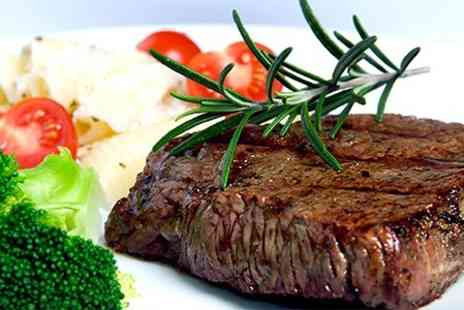 The Fox Inn - Steak or Sea Bass Meal With Wine For Two or Four - Save 58%