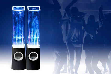 Onevolution - Two groovy water dancing speakers And multi coloured LED light up - Save 63%