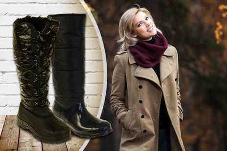 Linzi - Pair of faux patent leather boots or all weather winter boots - Save 40%