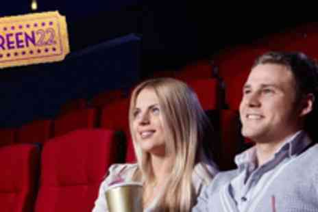 Screen 22 - Private Screen Hire for up to 22 people Watch any movie or even play a game - Save 66%