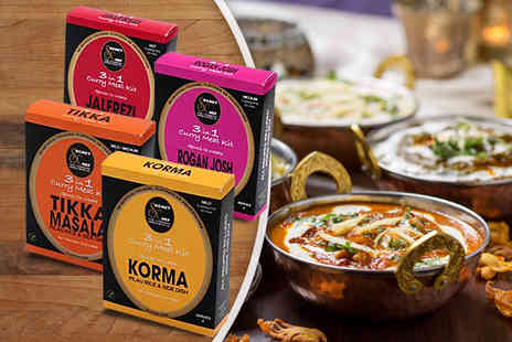 Mood Food Company - Three in one curry kits with spice sachets - Save 38%