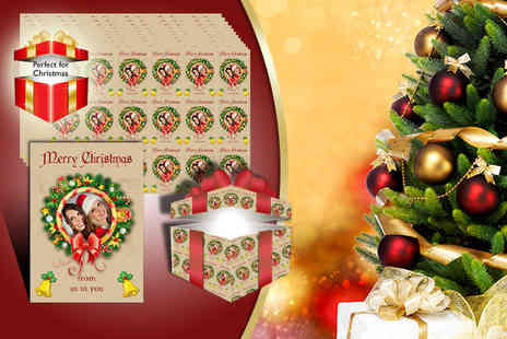 Advanced Images - Twelve sheets of personalised wrapping paper - Save 45%