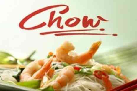 Chow Restaurant - La Carte Chinese Meal With Drinks For Two - Save 61%