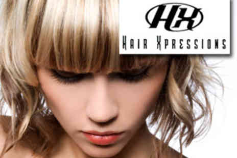 Hair Expressions - Half head of Highlights, Cut & Blowdry - Save 75%