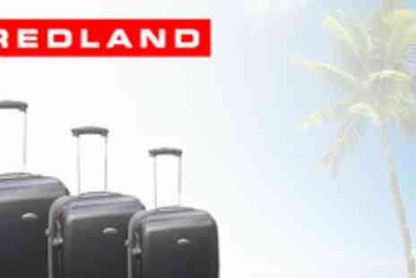 Redland Luggage - Three Piece Hard Luggage Set in Graphite - Save 69%