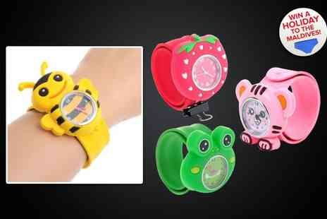 Love Crystal - Two snap on children's watches - Save 50%