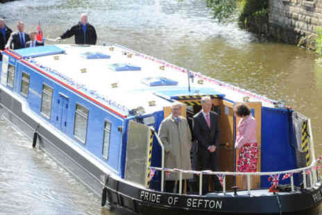 The Pride Of Sefton - Three hour private canal boat cruise for up to 12 people - Save 51%