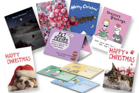 Cardoo - Six Calendar Christmas Greeting Cards - Save 50%