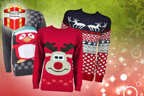 Miss Couture - Unisex Christmas jumper in a choice of designs and colours - Save 70%