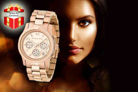 Castile Jewellery - Michael Kors rose gold ladies chronograph watch  - Save 28%