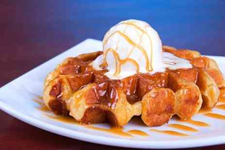 Happy Daze - Belgian Waffle With Ice Cream and Drink  - Save 50%