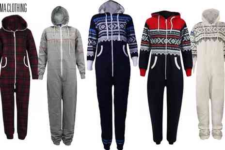 Karma Clothing - Nordic Aztec Print Adult Onesies - Save 55%
