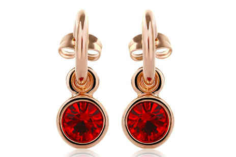 Sally Hansen - Bright Red Stud Earrings - Save 50%