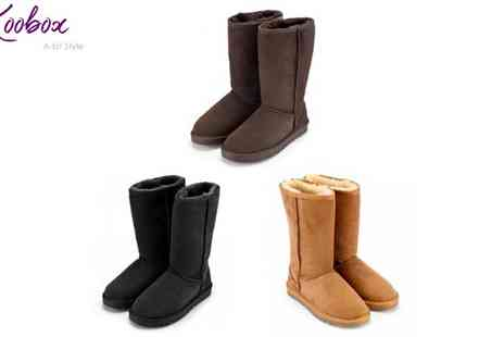 Koobox - Sheepskin Style Snow Boots - Save 69%