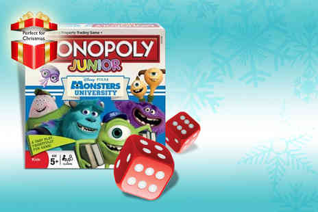Winning Moves - Monsters University Monopoly Junior board game - Save 35%
