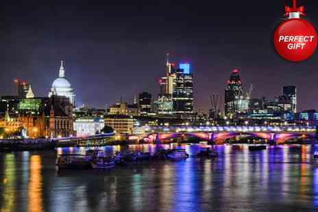 Thames River Tours - One hour Christmas Twilight Thames cruise and club entry for one - Save 50%
