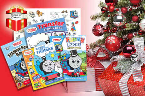 Iqbooks - Five book Thomas the Tank Engine, Fireman Sam or Bob the Builder Story & Activity collection - Save 55%