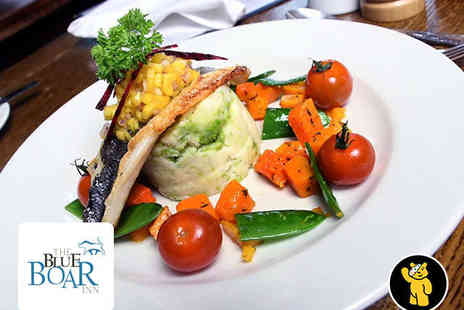 The Blue Boar Inn - Starter and Main Course with Wine or Beer for Two - Save 54%