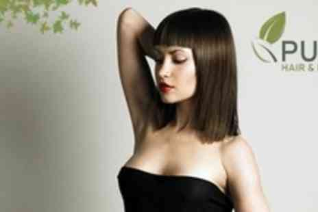 Pure Hair and Beauty - Wash Cut and Blow Dry Plus Personalised Aveda Hair Treatment With Massage - Save 65%