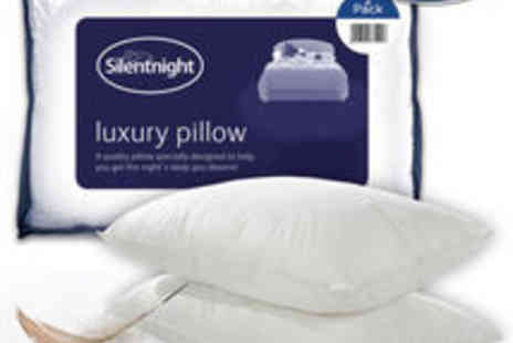 UK Bedding - Silentnight Luxury Goose Feather Pillows - Save 83%