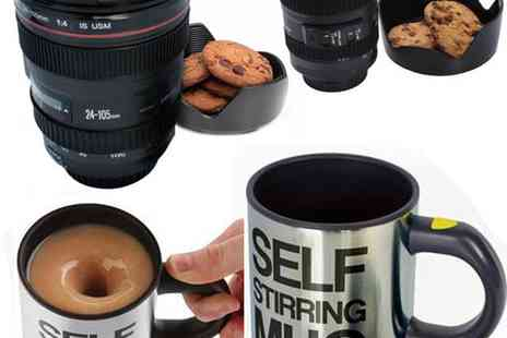 babz - Self Stirring or Thermal Camera Lens Mug - Save 57%
