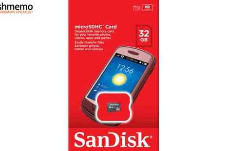 Flashmemo - San Disk 32 GB Micro SDHC Card - Save 18%