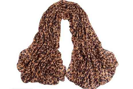 Little P and P - Chiffon Leopard Patterned Scarf - Save 50%