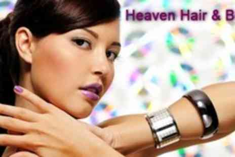 Heaven Hair & Beauty - Full Set of Crystal Gel Nails With Hungarian Manicure - Save 60%