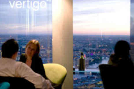 Vertigo 42 - Champagne Afternoon Tea or Sharing Platter and City Views for Two - Save 50%