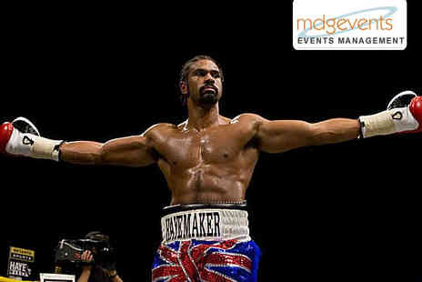 MDG Events - Silver Ticket for David Haye Event with Three Course Meal - Save 52%