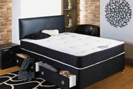 4 Home Furnishing - Four Feet 6 Double Divan Bed With Mattress - Save 5%