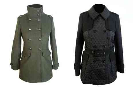 Whispering - Womens Military or Quilted Trench Jacket - Save 56%