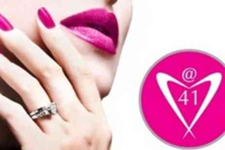 Hair & Beauty @41 - Gel Polish Manicure and Pedicure - Save 64%